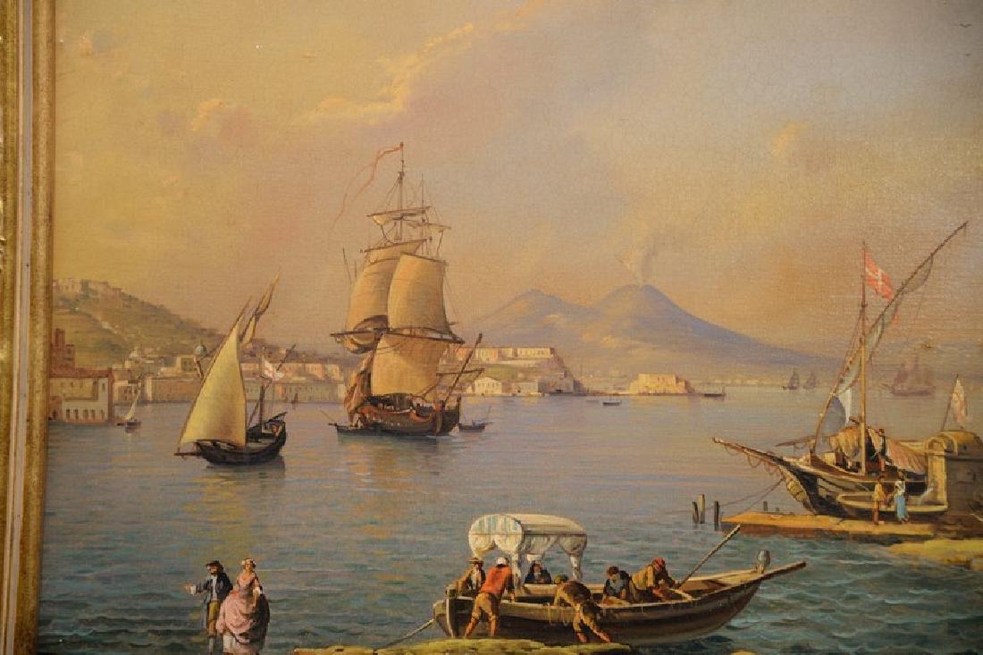 Giuseppe De Winter, oil on canvas, Rome Harbour, signed - 2