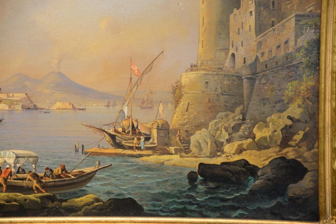 Giuseppe De Winter, oil on canvas, Rome Harbour, signed - 3