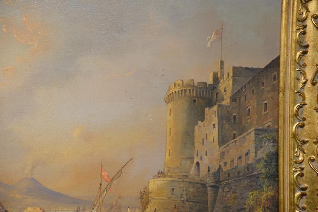 Giuseppe De Winter, oil on canvas, Rome Harbour, signed - 4