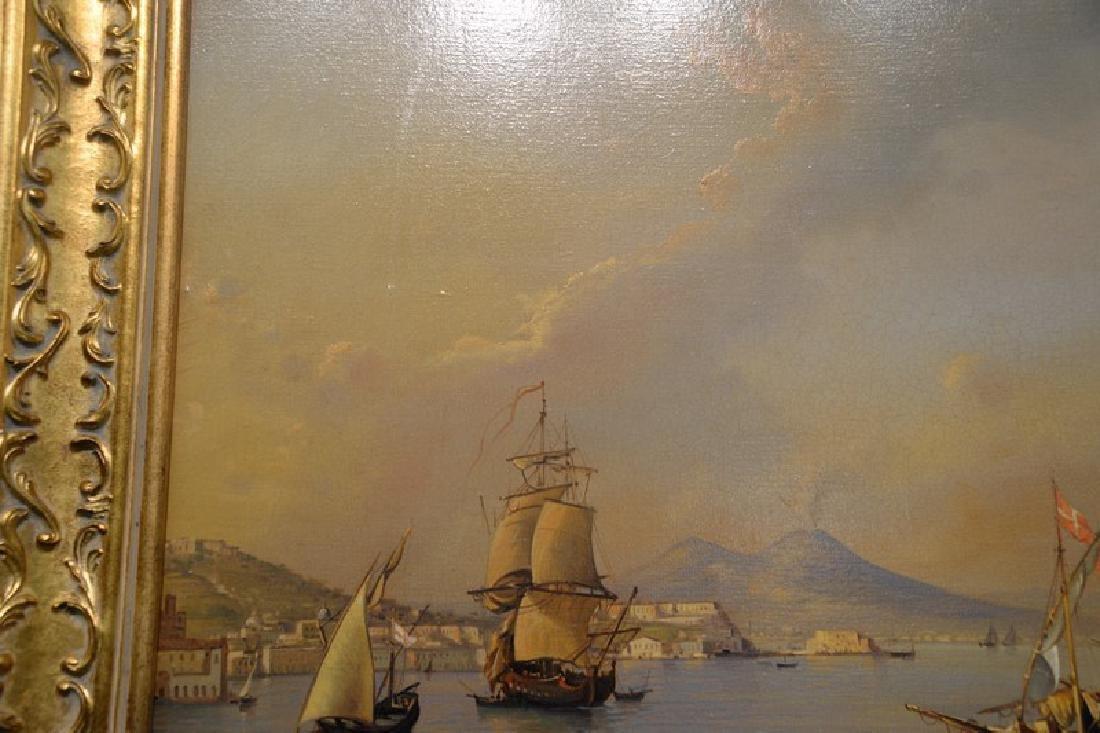 Giuseppe De Winter, oil on canvas, Rome Harbour, signed - 6