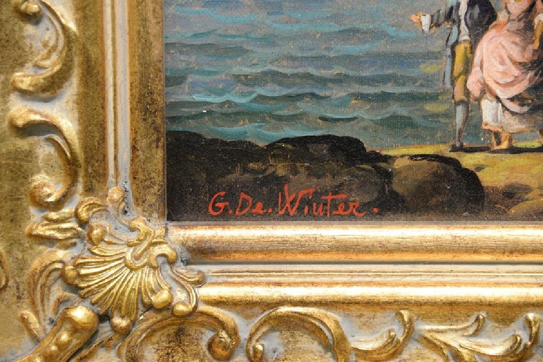 Giuseppe De Winter, oil on canvas, Rome Harbour, signed - 7