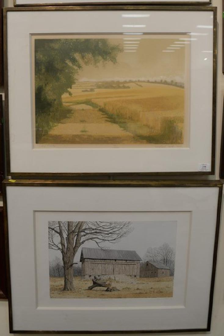 Three framed lithographs to include Michael Carlo