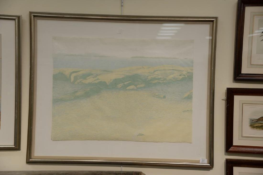 Two framed pieces to include Victoria Sclafani colored - 2