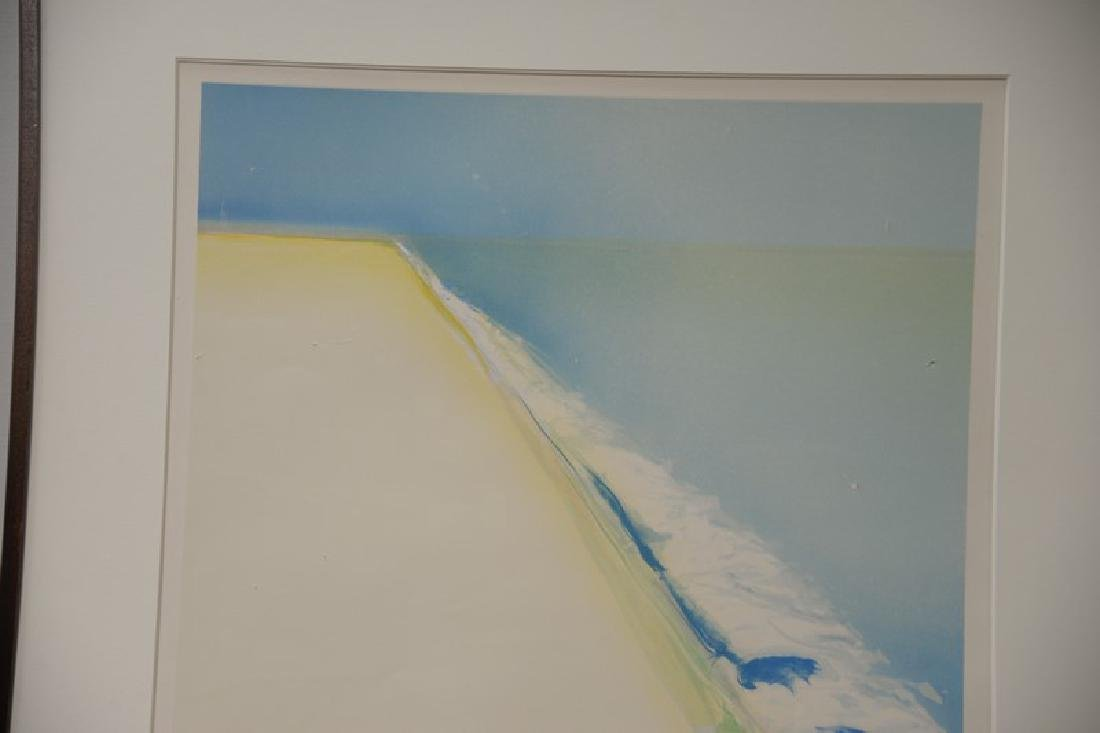 "Gregory Kondos (b1923), colored lithograph, ""Beach"" - 2"