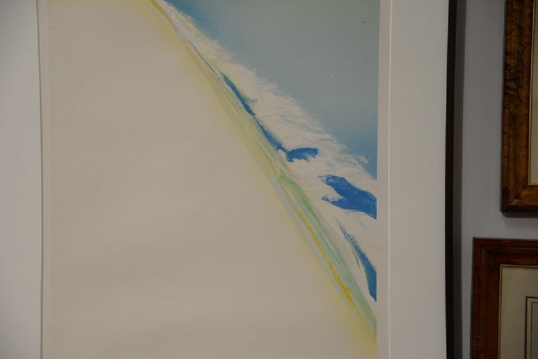"Gregory Kondos (b1923), colored lithograph, ""Beach"" - 3"