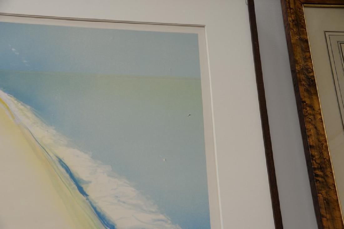 "Gregory Kondos (b1923), colored lithograph, ""Beach"" - 4"