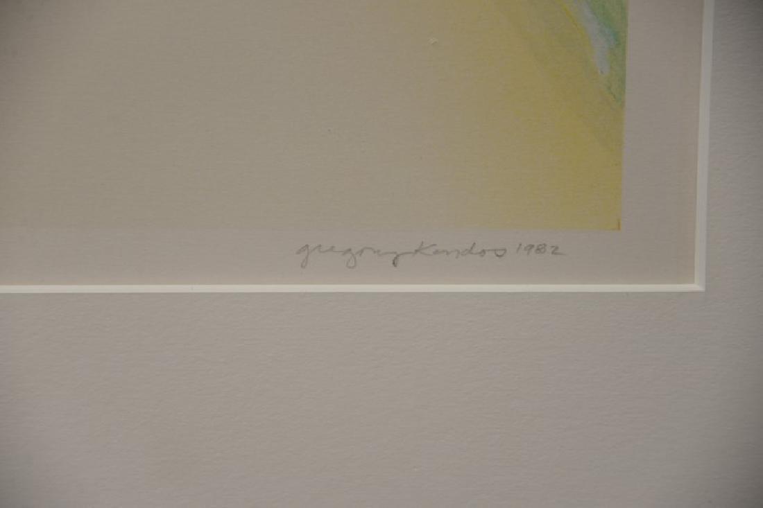 "Gregory Kondos (b1923), colored lithograph, ""Beach"" - 5"