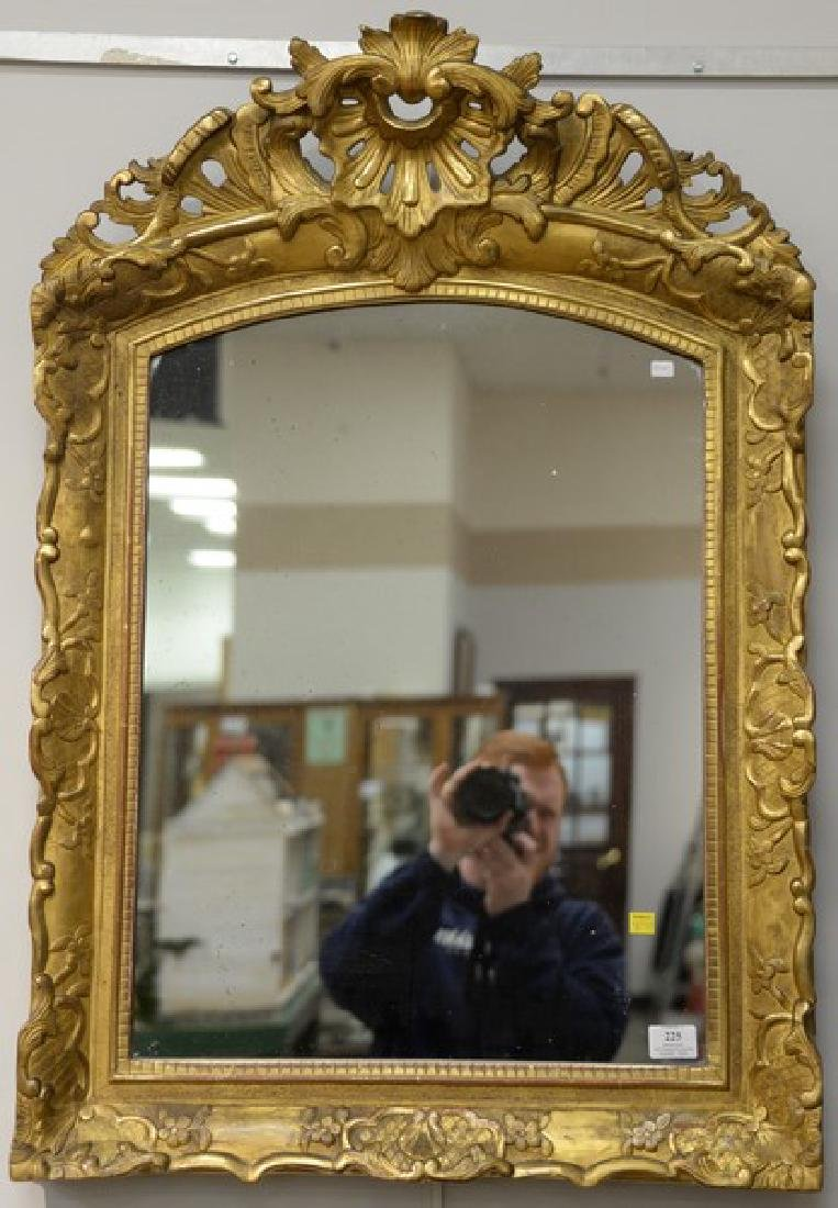 "Two gilt decorated mirror, 41"" x 28"" and 37"" x 25""."