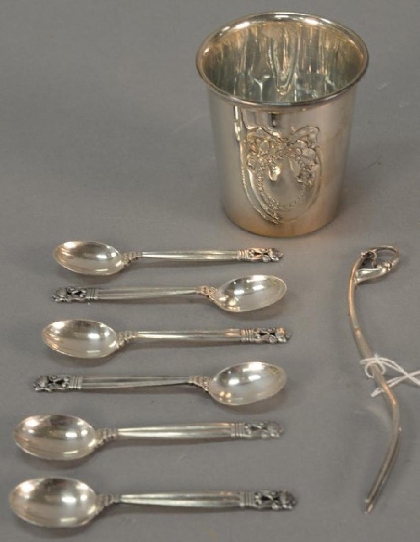Sterling silver group to include Georg Jensen Demitasse