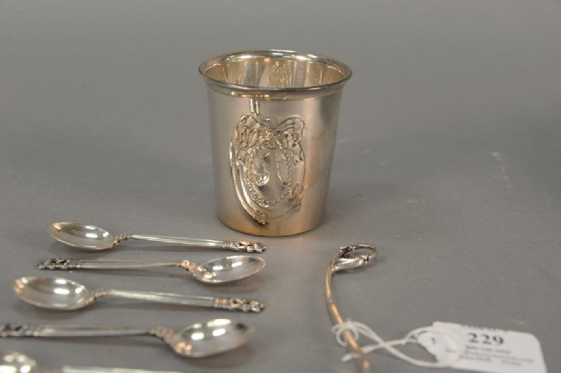 Sterling silver group to include Georg Jensen Demitasse - 2