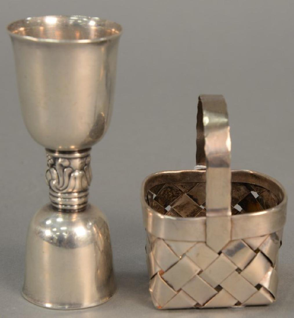 Two Cartier sterling silver pieces to include small