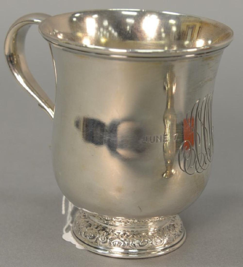 Tiffany & Company sterling silver mug with handle,