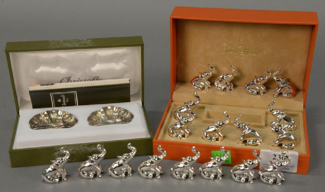 Group lot to include eighteen Saint Hilaire silverplate
