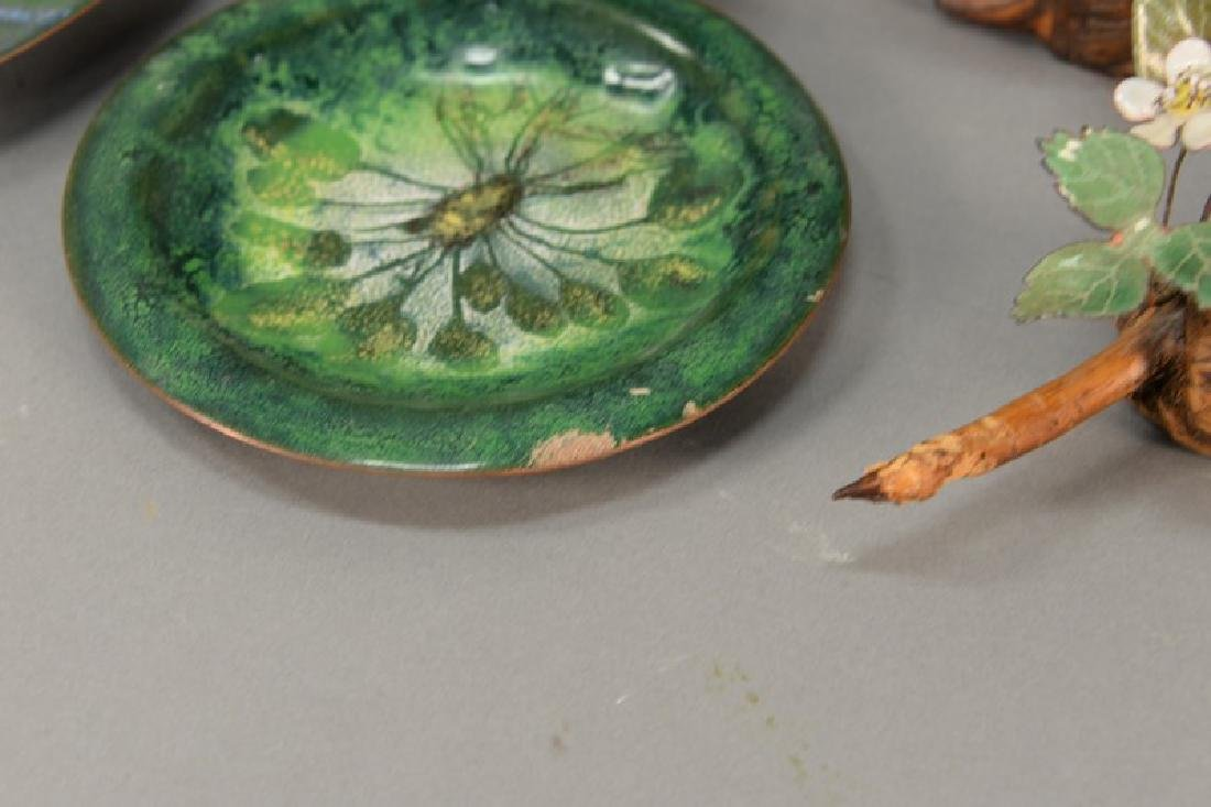 Five enameled pieces to include three Norman Brumm - 5