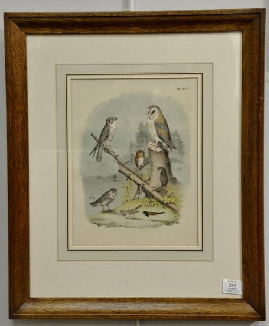 Set of six crayon plate lithographs after Theodore