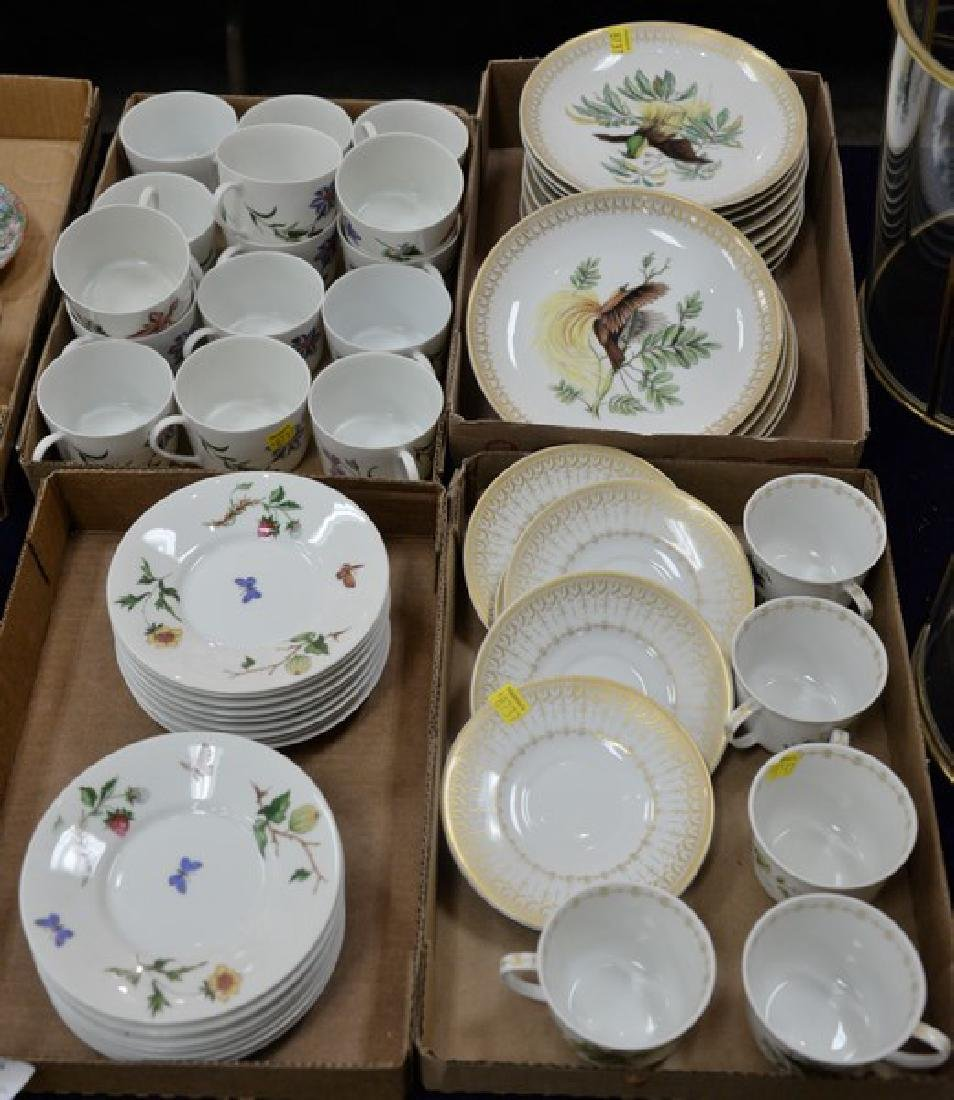 Four box lots of cups and saucers plates, Mottahedeh