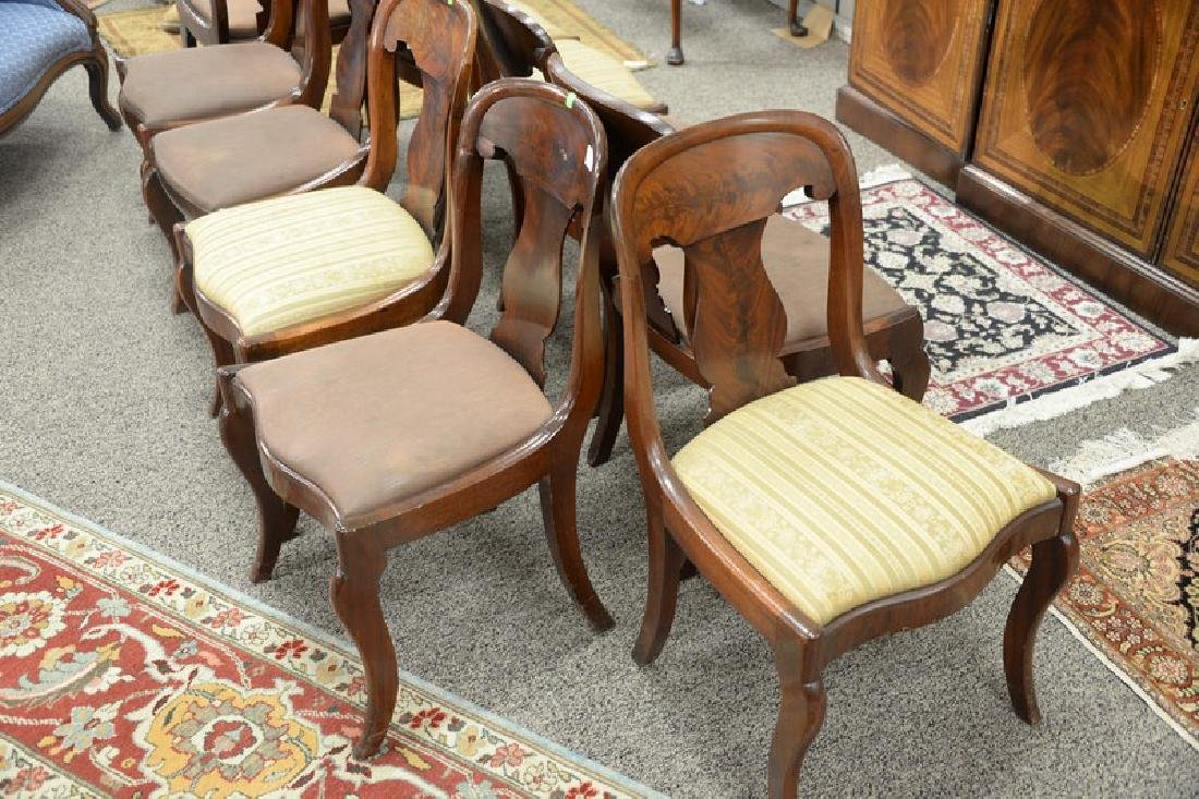 Assembled set of ten Empire saber leg side chairs, six - 3