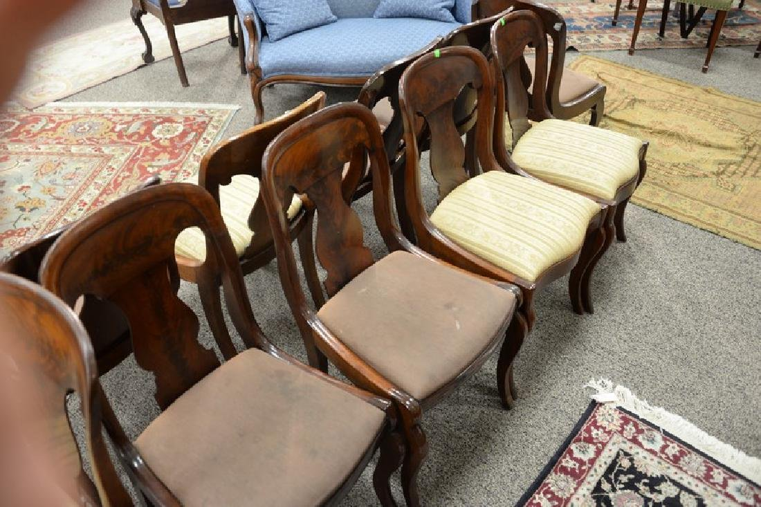 Assembled set of ten Empire saber leg side chairs, six - 4