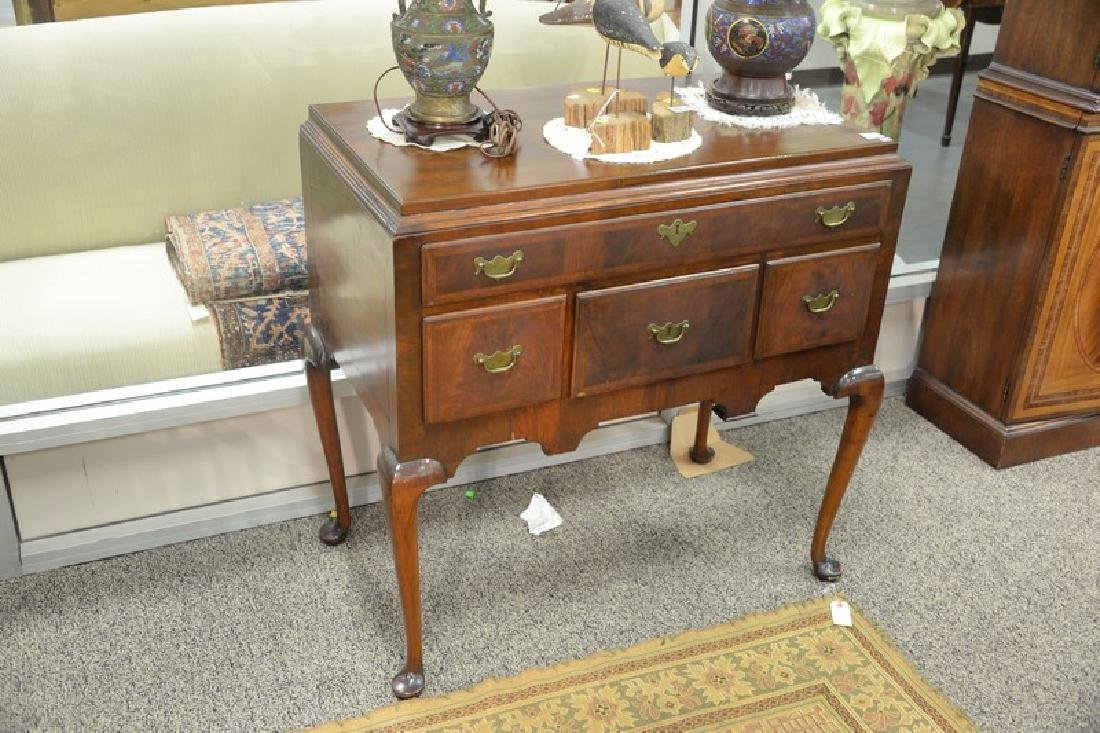 Queen Anne highboy base, circa 1750 (back of back foot - 3