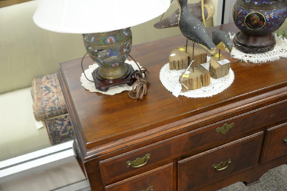 Queen Anne highboy base, circa 1750 (back of back foot - 4