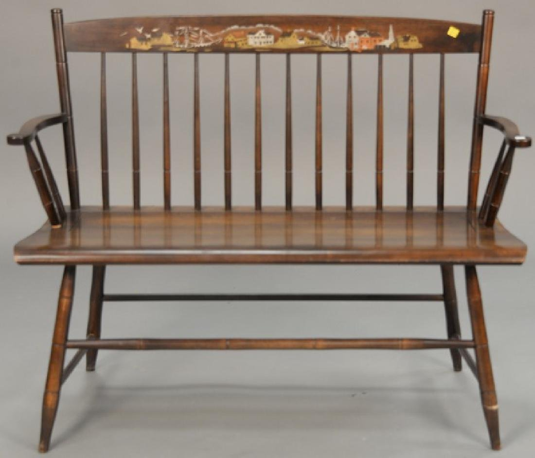 Hitchcock maple bench. wd. 42in.