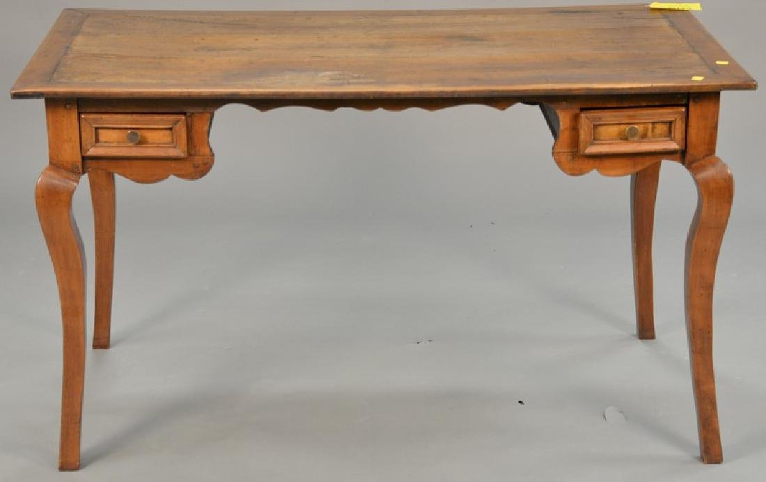 "Louis XV style writing table. ht. 30in., top: 26"" x 52"""