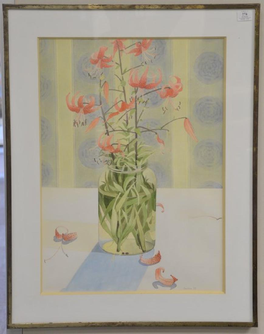 Four framed watercolors on paper to include:  Antonia