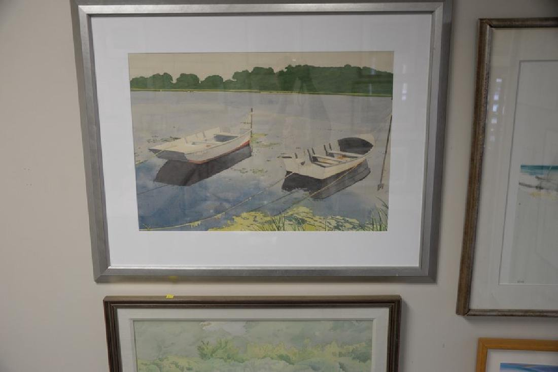Group of four larger framed watercolors to include: - 2