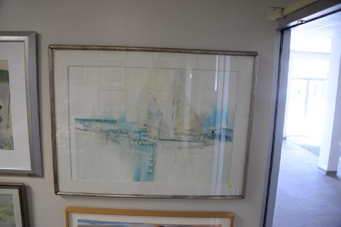 Group of four larger framed watercolors to include: - 3