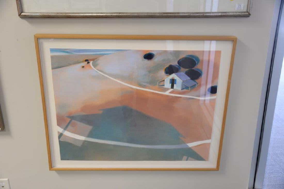 Group of four larger framed watercolors to include: - 4