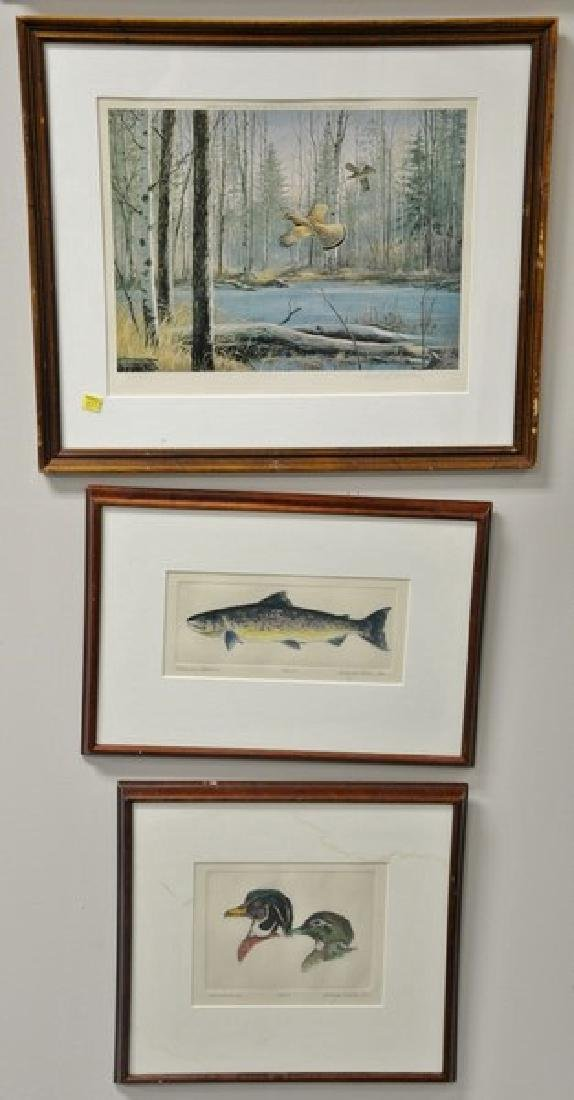 """Group of eight framed sporting pieces to include  """"The"""