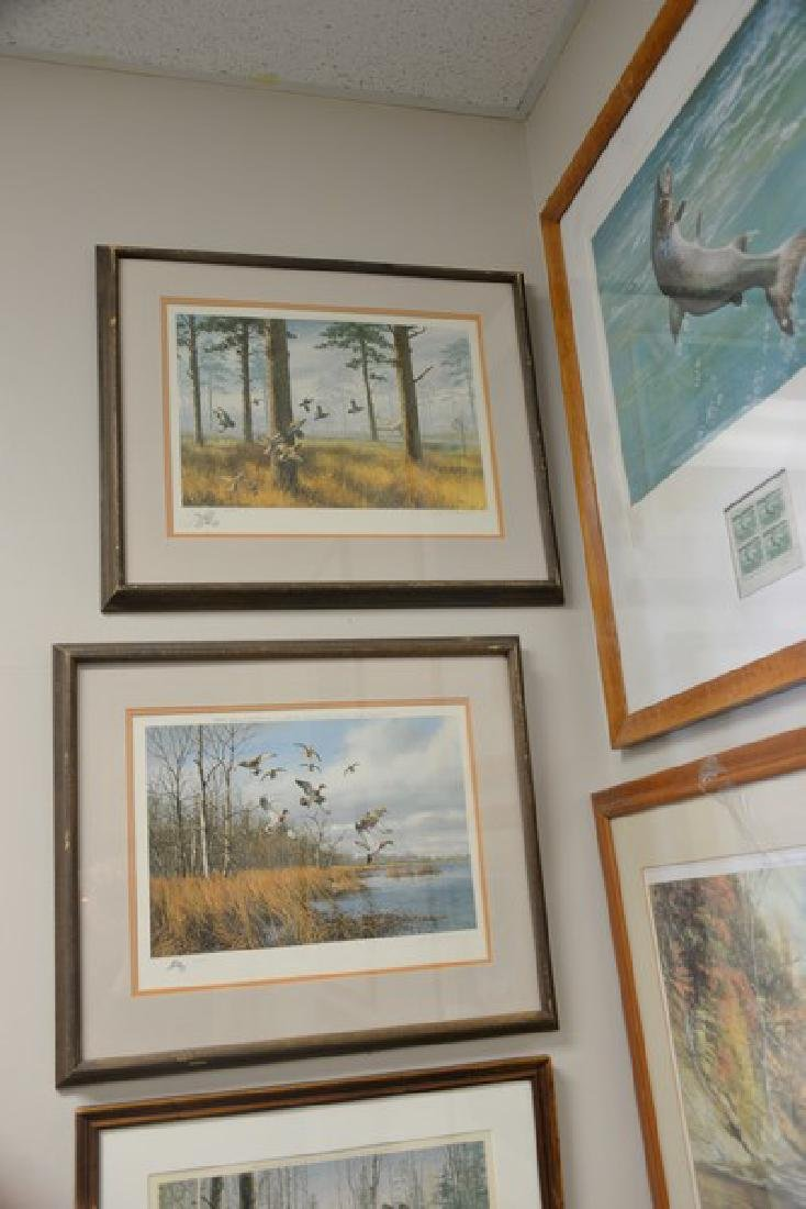 "Group of eight framed sporting pieces to include  ""The - 2"
