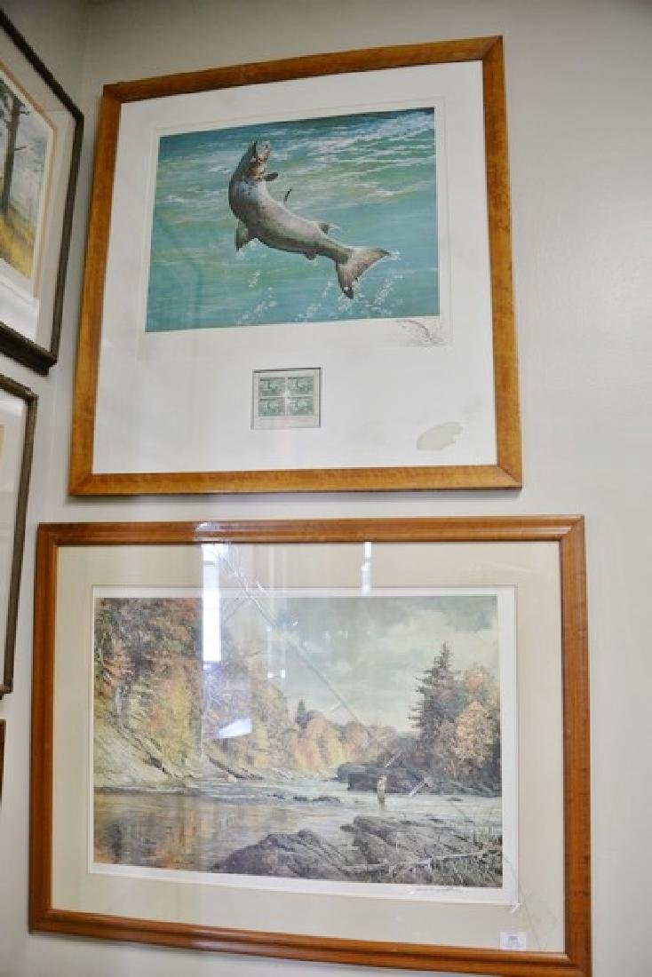 "Group of eight framed sporting pieces to include  ""The - 4"