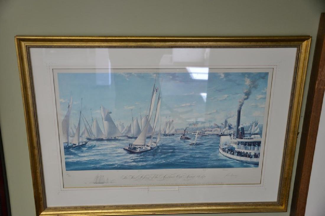 """Four framed pieces to include:  engraving, """"Winter, Two - 3"""