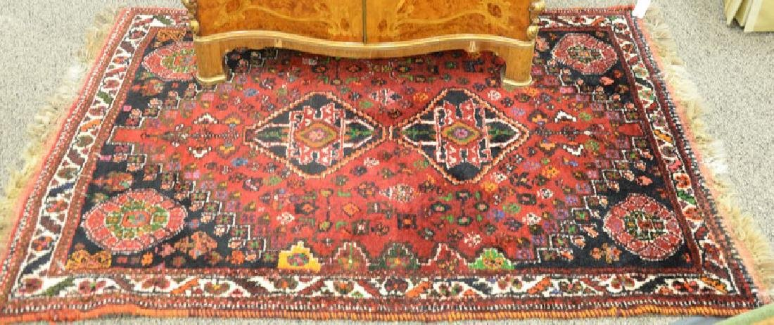 "Two Oriental throw rugs, 4'5"" x 7'2"" and 3'9"" x 5'2"""