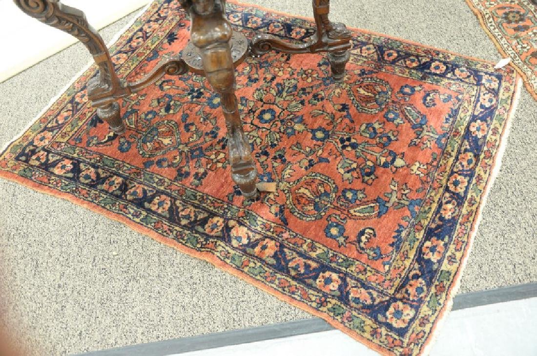 "Two Hamadan Oriental throw rugs, 3'5"" x 4'7"" and 3'4"" x"