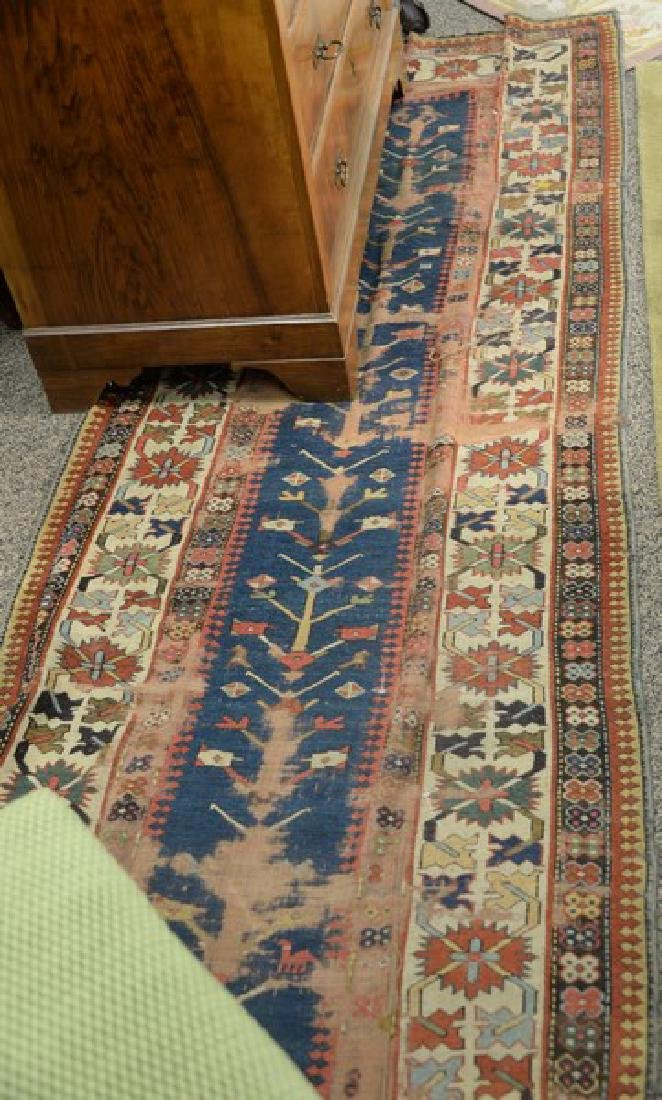 Two piece lot to include caucasian Oriental runner plus