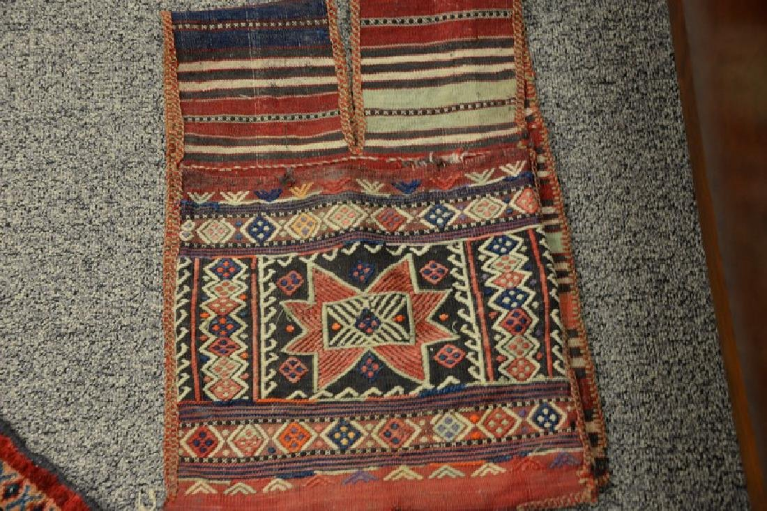 Two piece lot to include a pair of camel saddle bags - 2