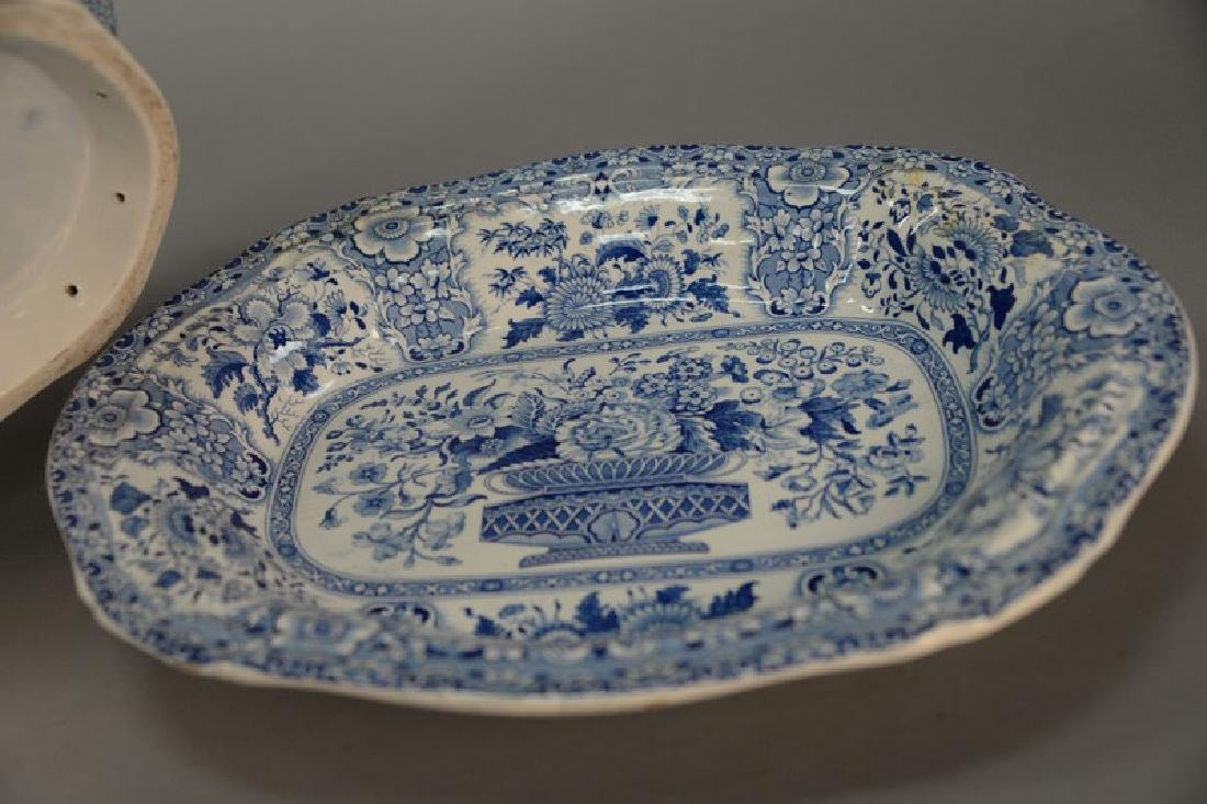 Blue and white Tureen & underplate, marked Nanking Semi - 3