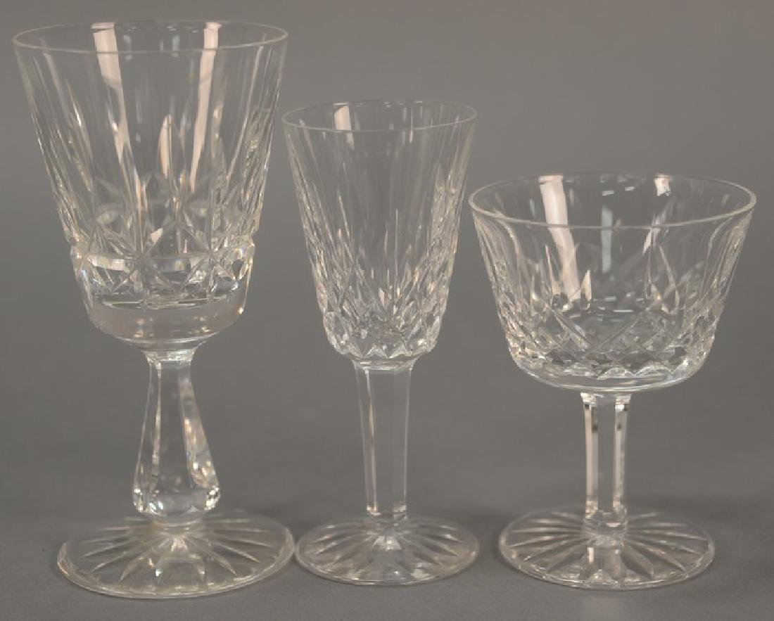 Set of twenty-six Waterford crystal stemware to include