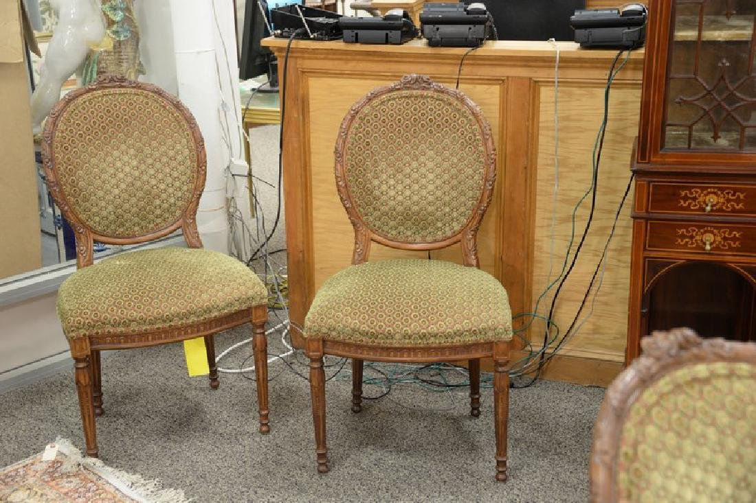 Set of eight Louis XVI style side chairs, custom - 4
