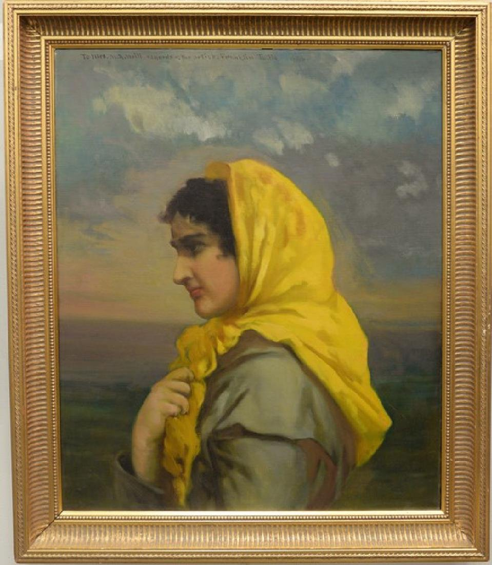 Franklin Tuttle (1866-1919), oil on canvas, portrait of