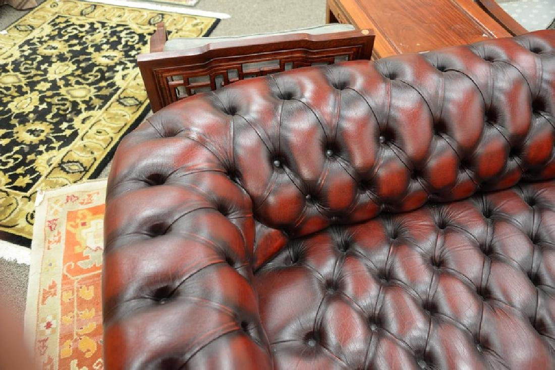 House of Chesterfield sofa, tufted leather upholstery, - 3
