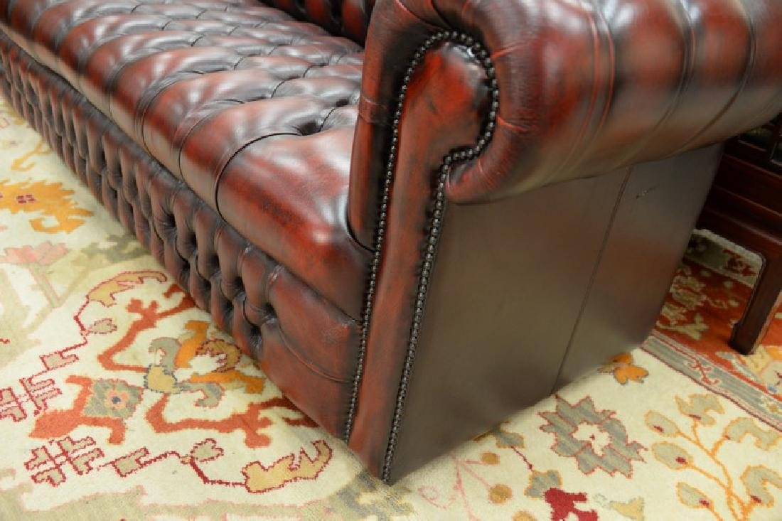 House of Chesterfield sofa, tufted leather upholstery, - 5
