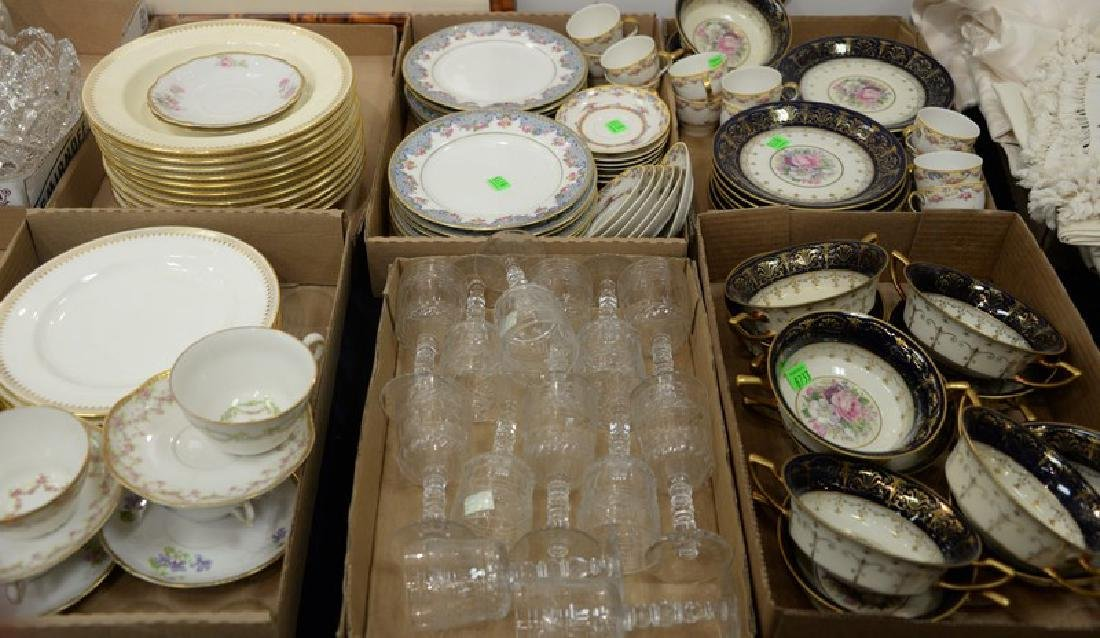 Six box lots including Rosenthal bouillon cups and