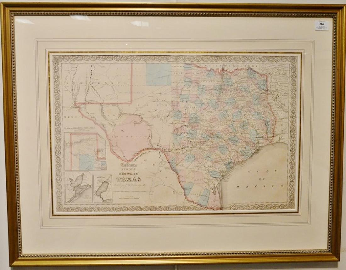 Colton's New Map of the State of Texas, compiled from