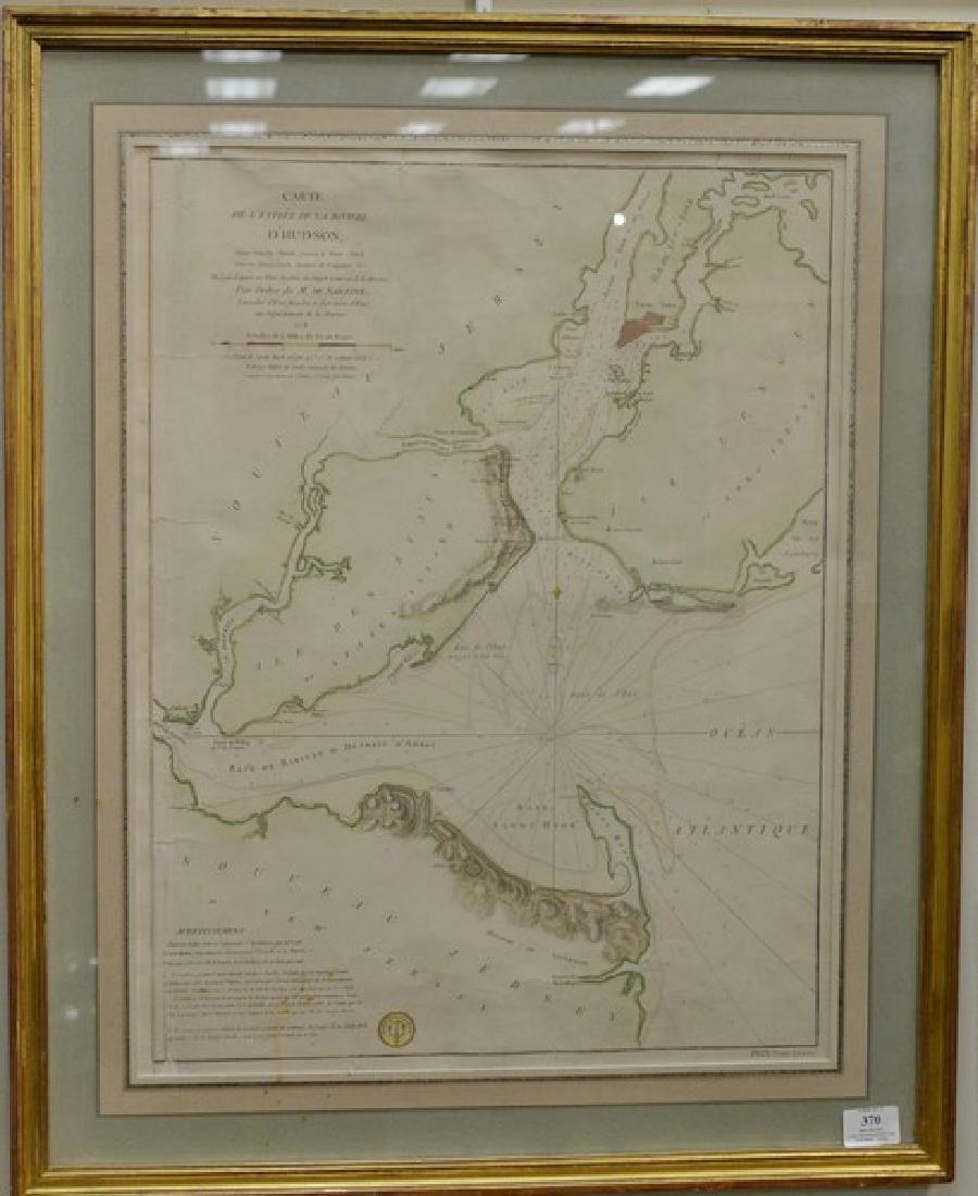 John Carte De L'entrée De La Riviere D'Hudson depuis