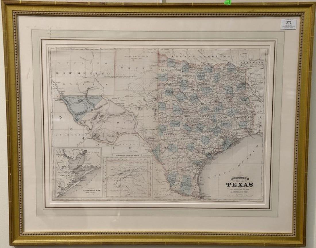 Two framed and engraved maps including County Map of