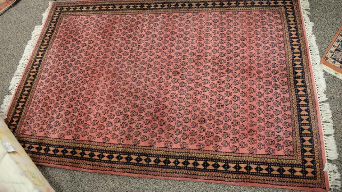 "Two Oriental throw rugs, 3'10"" x 5'8"" and 3'1"" x 5'3"""