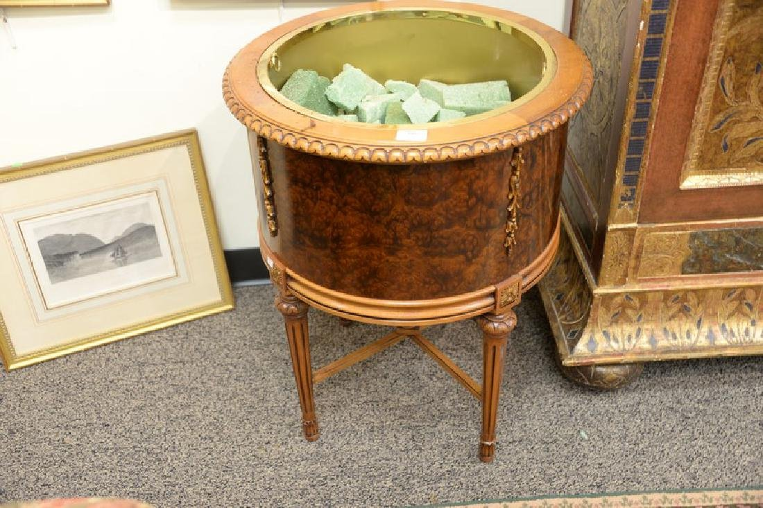 Three piece group to include a mahogany plant stand - 2